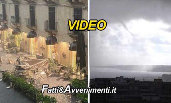Sicilia in ginocchio per il maltempo: un  tornado a Catania causa danni e feriti. Tromba d'aria su Augusta