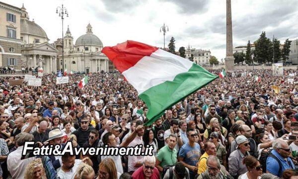 """Roma. Oltre 10mila No Green Pass ieri in protesta, per politica e sindacati: """"fascisti"""""""