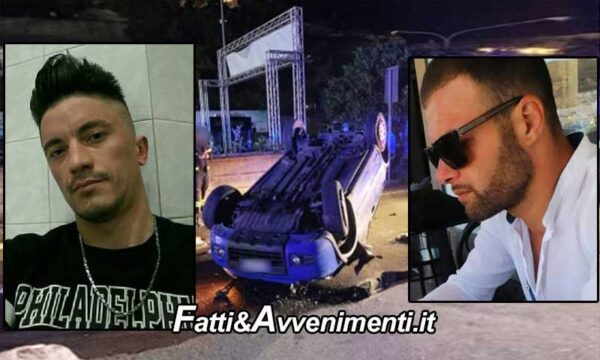 Taormina. Auto con 4 giovani si schianta contro un palo: muoiono un 35enne e un 32enne e 2 feriti